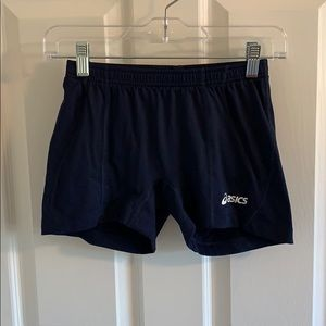 Navy Blue ASICS Spandex Shorts S